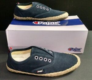 Leather Shoes, Navy Blue, Size 8-8.5M