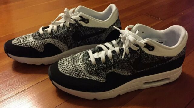NIKE AIR MAX 1 ULTRA MOIRE BLACK WHITE SIZE 13 SHOES RARE! 705297 001 MAKE OFFER | eBay