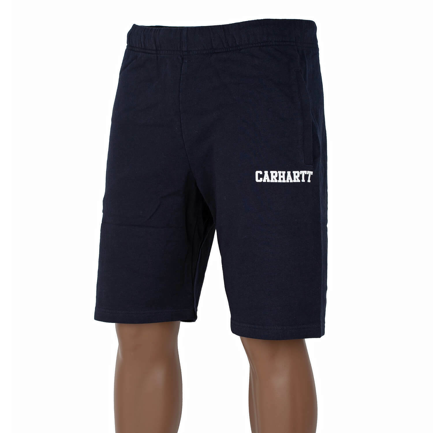 CARHARTT WIP College Sweat Short Navy bianca-colabrodo tempo libero-Short