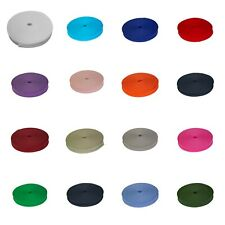 """25MM 1/"""" COTTON BIAS BINDING Sewing Stitching TAPE ROLL All LENGTH ALL COLOUR"""