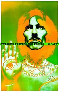 George-Harrison-Psychedelic-The-Beatles-Artwork-Poster-REPRINT-11x17