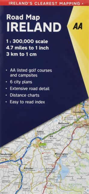 AA 2018 Road Map Ireland 9780749579890 Aa Ireland Road Map on aa scotland road map, meteor road map, aa road map of england, aa route planner ireland, rac road map, aa france road map, uk england road map, aa uk road map,