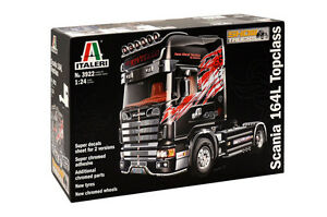 Italeri 3922 1/24 Scale Model Show Truck Kit Scania 164L Top Class 480 V8 4x2