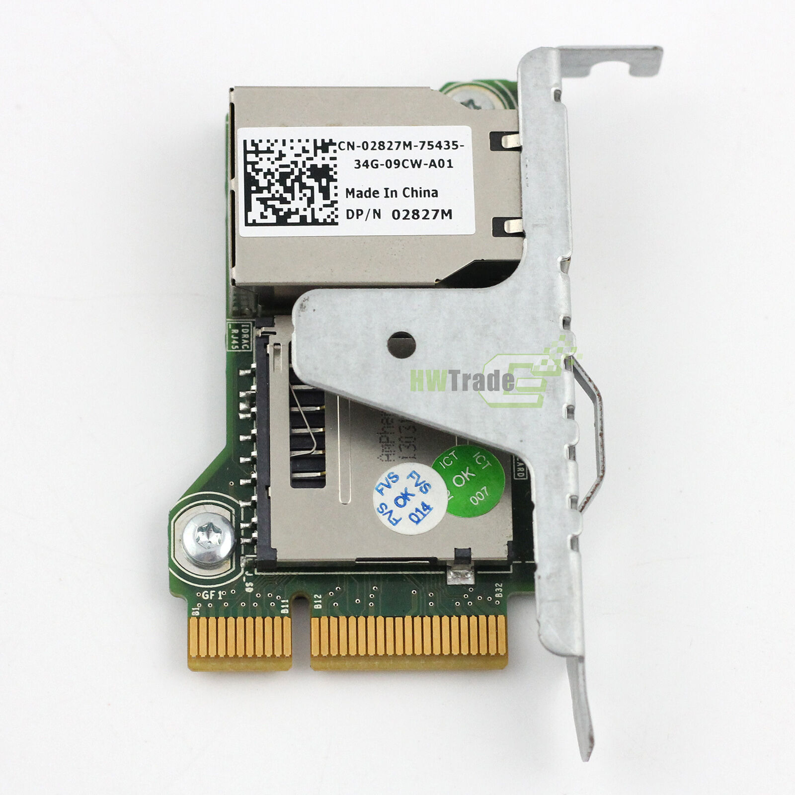 Dell iDRAC7 02827M Express Remote Access PowerEdge R320 R420 R520 R620 T320 T420