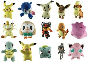 Official-Pokemon-Plush-SOFT-TOYS-Pikachu-Charmander-Squirtle-Eevee