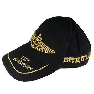 9e3a9a8a815 Image is loading Breitling-CAP-HAT-130th-Anniversary-Black-And-Gold. Image not  available ...