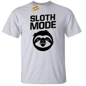 La-modalita-BRADIPO-da-Uomo-T-shirt-S-5XL-Lazy-Divertente-Top