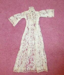 Vintage Barbie Clothes Vintage Barbie Clone White Lace Hostess Dress Ebay