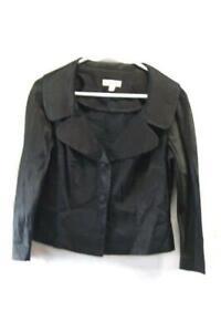 BEBE-Women-039-s-Black-Blazer-Button-Size-8-Work-Office-Formal