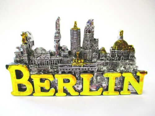 Berlin Magnet Stadt Collage gold silber Poly Souvenir Germany