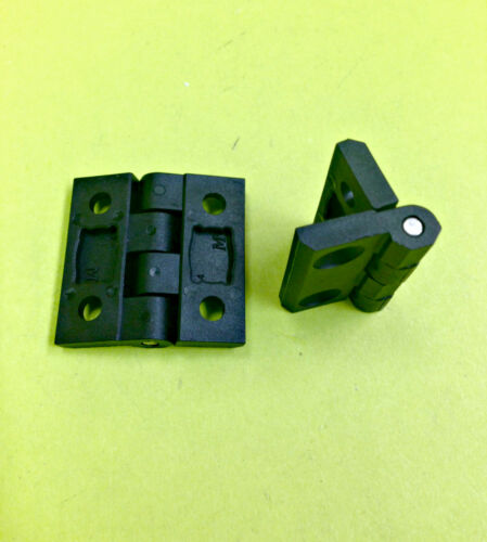 LOT OF 100 Flat Hinge Plastic Black Flush Cabinet Locker 270° degree #299.2.0.03
