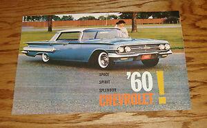 Original 1960 Chevrolet Full Size Car Sales Brochure 60 Chevy Impala