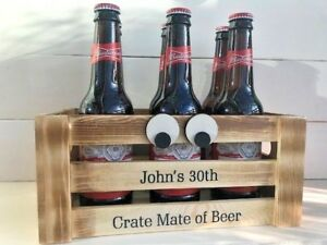 Personalised Gift CRATE MATE Unusual Birthday Present For Him Her