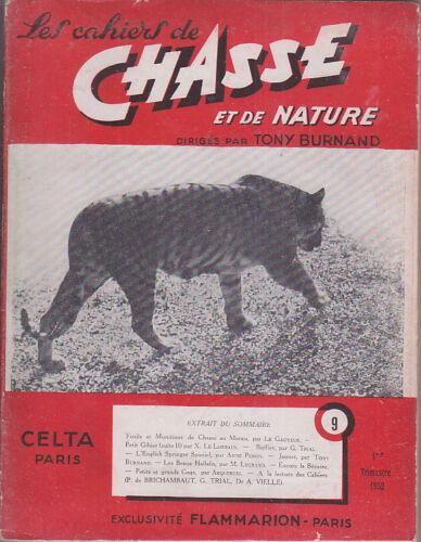 C1 Tony BURNAND Cahiers de CHASSE et NATURE # 9 1952  Jacques PENOT