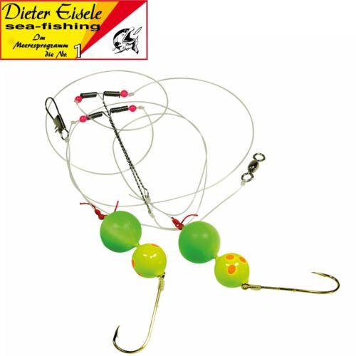 Dieter Eisele Select Dorschpaternoster gelb//grün 110cm 0,40mm 2//0 Brandungsrig