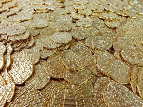... 50 Gold Spanish Doubloon Replicas Beverly Oaks Metal Pirate Coins