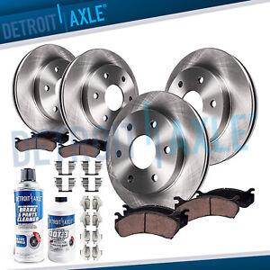Front & Rear Brake Rotors + Brake Pads CHEVY GMC ACADIA TRAVERSE ENCLAVE Brakes