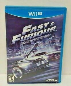 Fast & Furious: Showdown - Nintendo Wii U Game Tested & Working COMPLETE