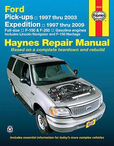 36059 haynes repair manual ford pick ups 1997 2003 expedition rh ebay co uk 2003 Ford Expedition Owner's Manual 2003 Ford Expedition Parts Manual