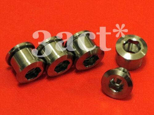 8 pcs Titanium Bolt /& Nut for Crankset Chainring Ti Black Green Blue Gold
