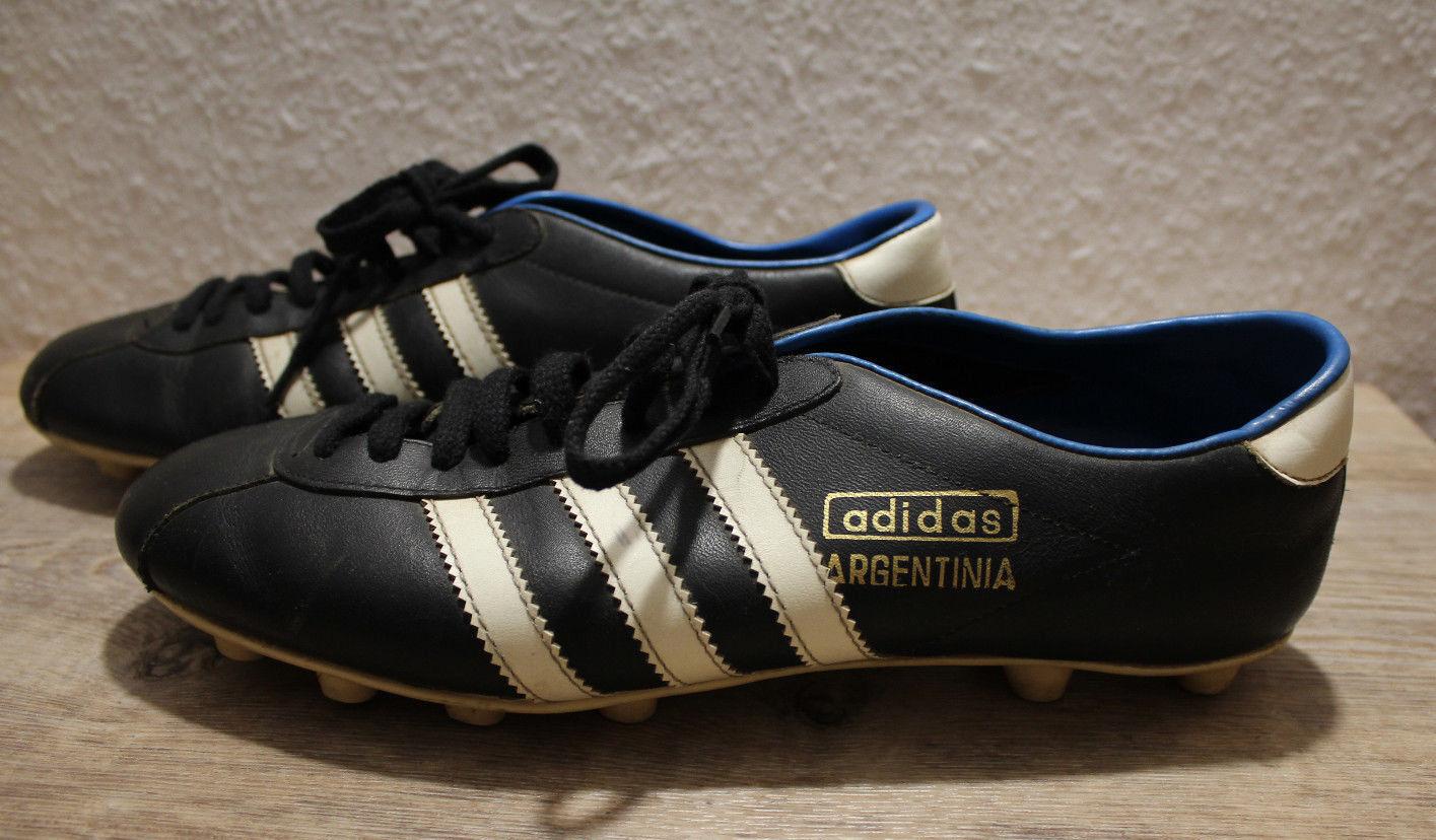 Vintage Adidas Schuhe Fussball ARGETINIA Gr. 9 1 2.Made in Yugoslavia.  | Deutschland München