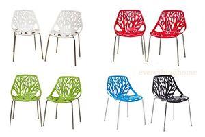2-Tree-Branch-Birch-Stencil-In-Outdoor-Dining-Chairs-Whi-Grn-Blu-Blk-Red-Ora
