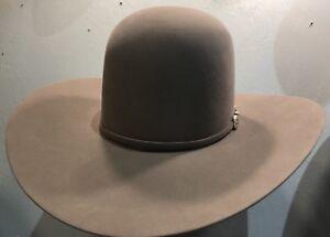 """cb5a00d05bb New American Felt Hat 40x Pecan 5""""size Brim 7 3 8 Beaver Felt Cowboy ..."""