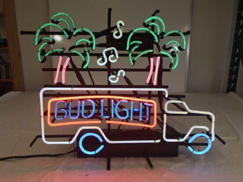 """17/""""x14/""""Bud Light LKW Palme Neon Sign Bier Bar Wandbehang Nachtlicht Kunstwerk"""