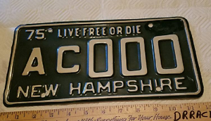 1975-New-Hampshire-SAMPLE-LICENSE-PLATE-NICE-TAG-AC-000