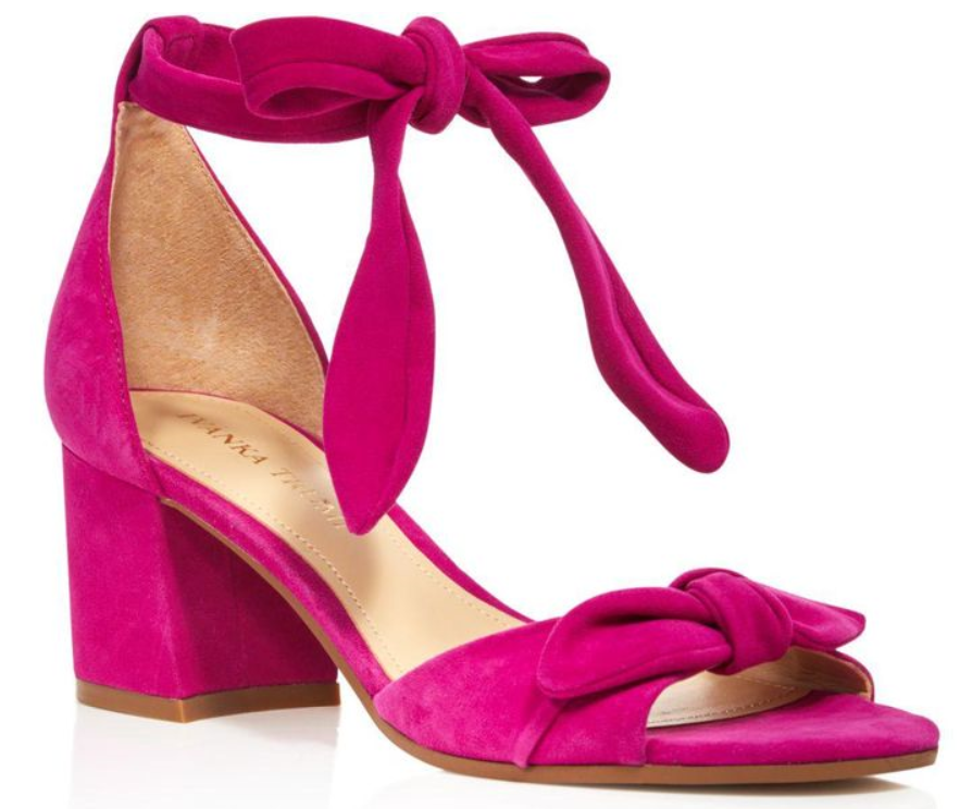 120 size 8.5 Ivanka Trump Ezra Pink Suede Ankle Strap Heel Sandals Womens shoes