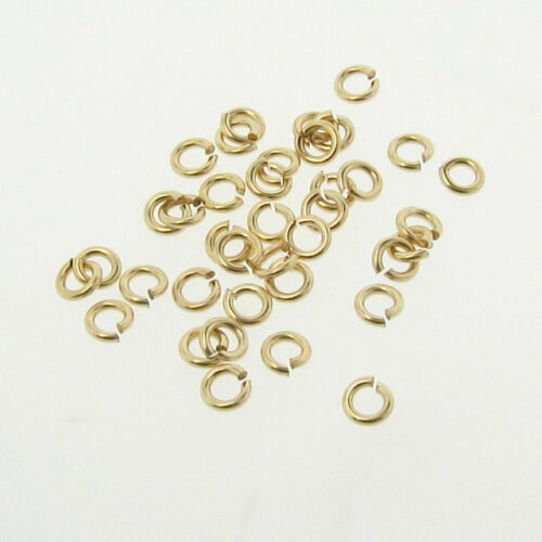 Made in USA 50-14K Gold Filled 3.5mm Jump Rings 20 gauge Open