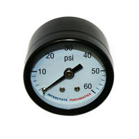 Pressure Gauge 60 Psi 1 -1/2 Diameter 1/8 Npt Rear Mount G2101-060