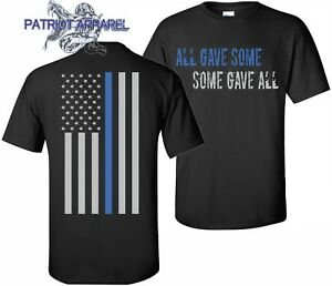 THIN BLUE LINE FLAG POLICE LIVES MATTER COPS OFFICER T-SHIRT USA ... f34bf560ca5