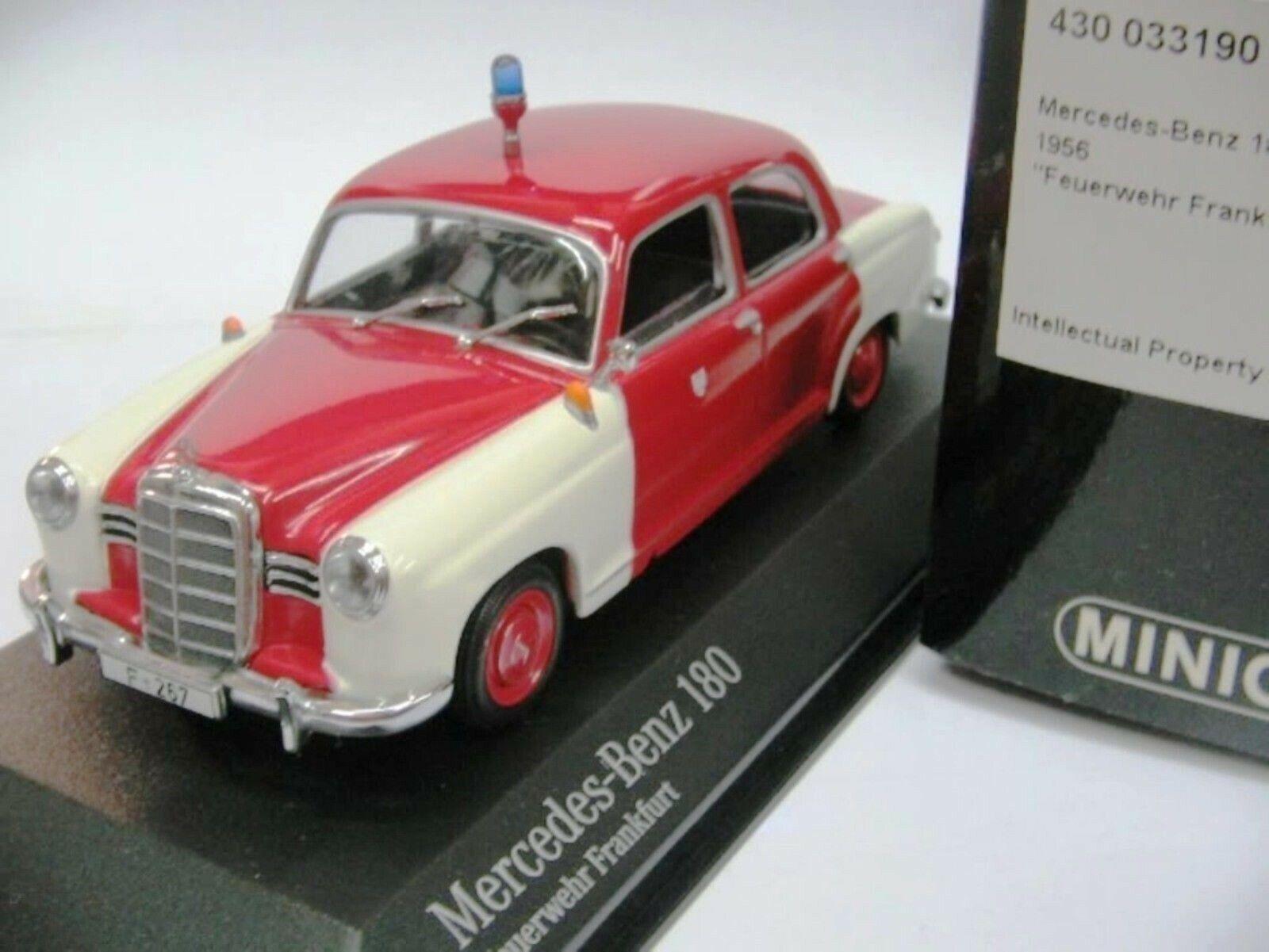 Wow extremadonnate raro Mercedes W120 180 Ponton cuerpo de bomberos 1956 1 43 Minichamps