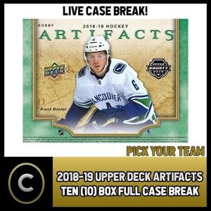 2018-19-UPPER-DECK-ARTIFACTS-TEN-BOX-FULL-CASE-BREAK-H120-PICK-YOUR-TEAM