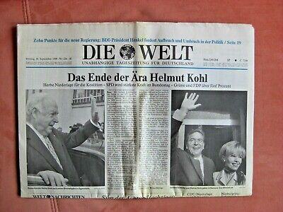 Ehrlich Zeitung Die Welt Vom 28.9.1998 Rarität Für Sammler Und Liebhaber Geburtstag