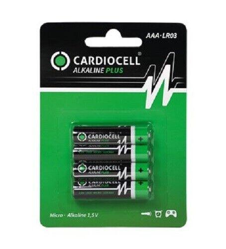 100 x CardioCell Plus Alkaline AAA MN2400 LR03 Micro 1,5V 25 x 4er Blister