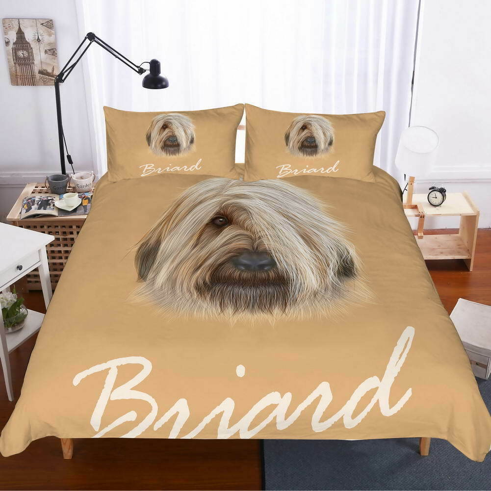 A Dog Ears Cover 3D Quilt Duvet Doona Cover Set Single Double Queen King Print