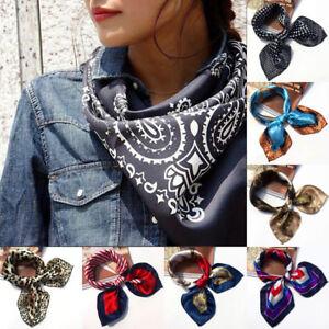 Small-Vintage-Head-Neck-Hair-Tie-Band-Women-Elegant-Square-Silk-Feel-Satin-Scarf