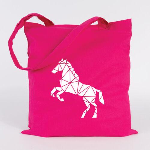 """JUNIWORDS Jutebeutel /""""Origami Pferd/"""" verschiedene Farben Geschenk Tasche"""