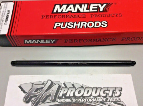 """Manley 25357-8 Swedged End 8.900/"""" Long .135/"""" Wall 3//8/"""" 4130 Push Rods Set Of 8"""