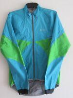 Odlo Mens Blue Green Molina Hard Shell Gore-tex Running Cycling Jacket Large