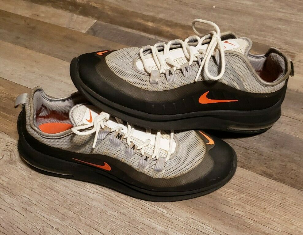 Nike Air Max Axis Running Shoes Wolf Grey Crimson AA2146-001 Men's Size 9  42.5