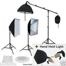 Studio Photo Equipment Softbox Light Boom Light Stand Lighting Kit Free Ship