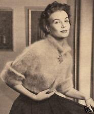 Vintage Knitting PATTERN to make Angora Shortie Sweater Jacket Cardigan Bernat89