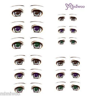 Parabox Obitsu 1/6 bjd Doll Dollfie Head Deco Eye Decal Sticker 05 (12 Pairs)