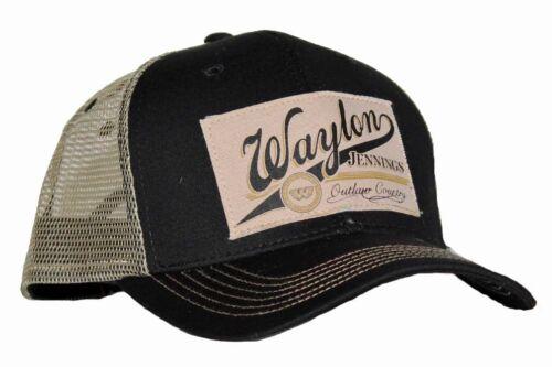 Waylon Jennings Outlaw Country Trucker Hat Black adult Unisex
