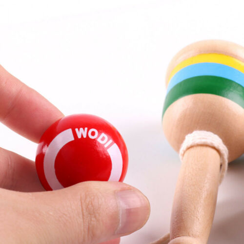 Kids Toy Wooden Ball and Cup Design Catch Skill Game Hand Eye Coordination Gift