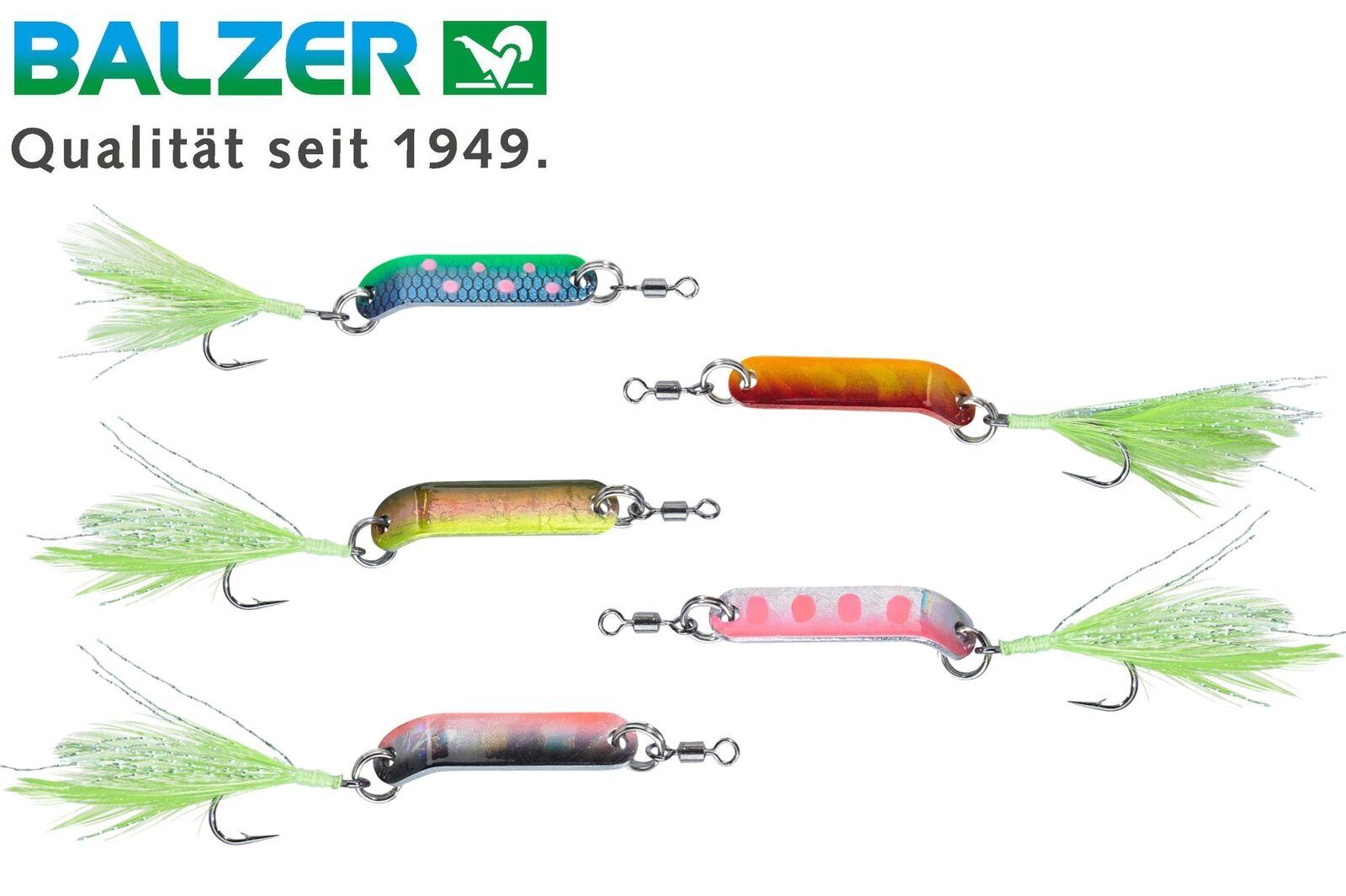 5 BALZER truites Clignotants Agro 3 cm 2,5 Truites g-Art Appât Pour Truites 2,5 Pêche, Glacier d9068d