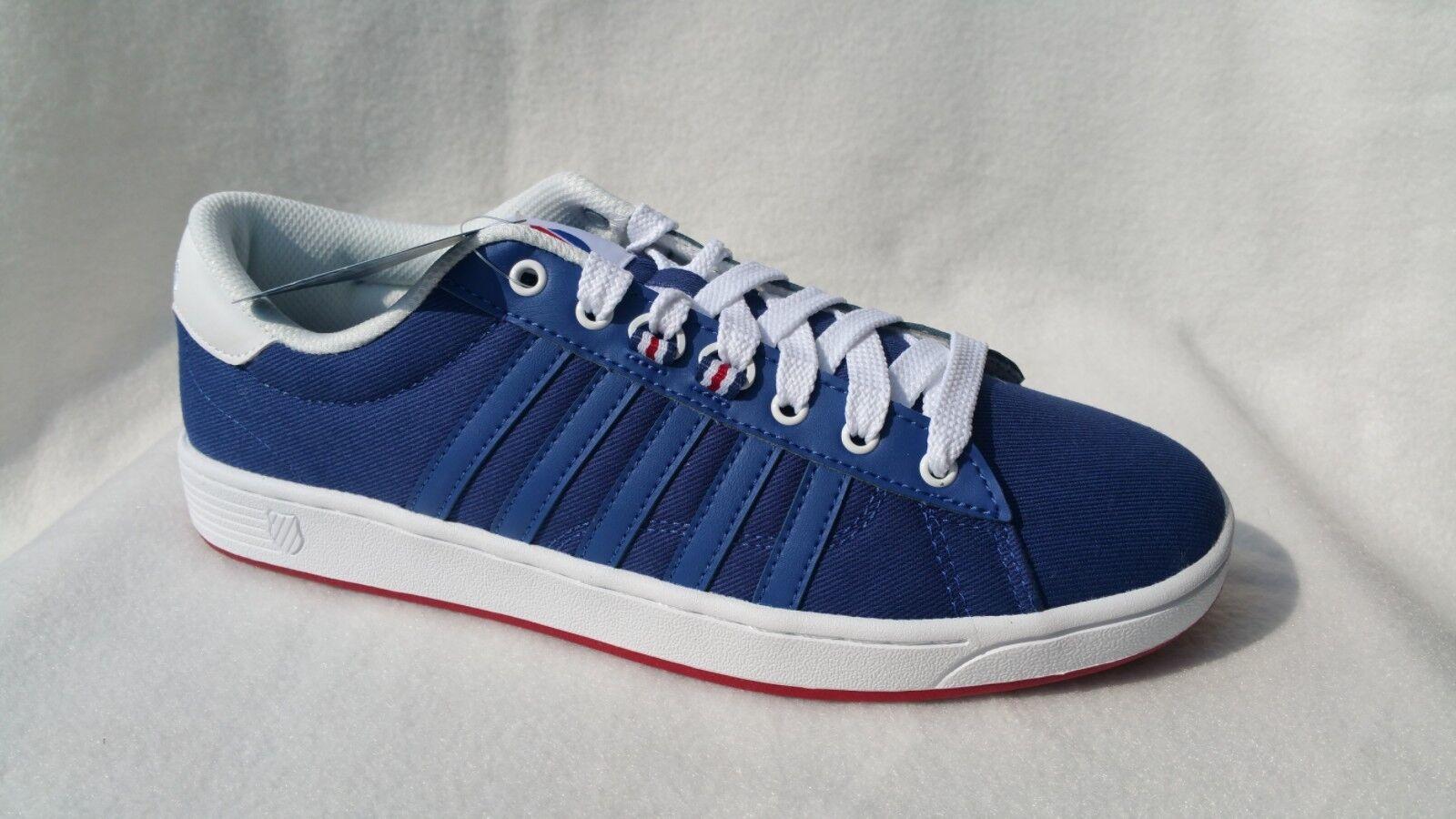 Sportschuhe / Sneaker K-Swiss Hoke T CMF aus Canvas mit Lederdetails 42 43 46